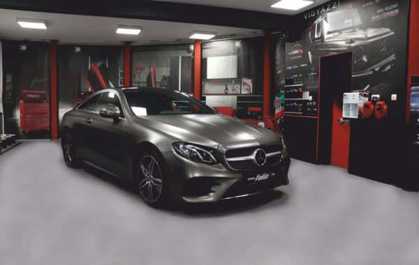 Mercedes E Coupe Silky Charcoal